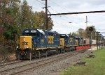 CSX 2693, 8476, 8437 on K634 unit phospate train.
